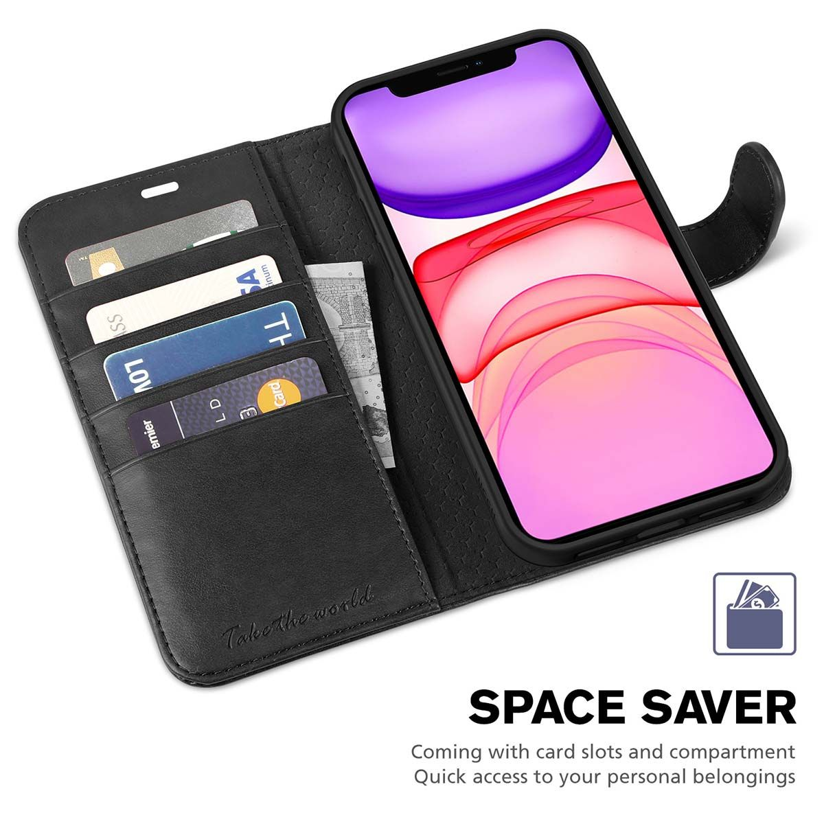 TUCCH iPhone 12 Pro Max Wallet Case, iPhone 12 Pro Max Leather Cover, PU Leather, RFID Blocking