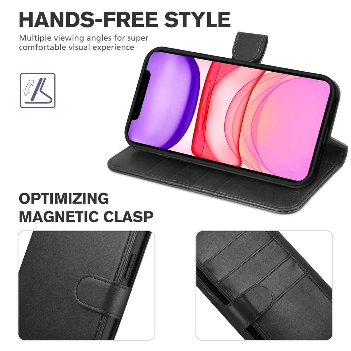 TUCCH iPhone 12 Pro Max Wallet Case, iPhone 12 Pro Max ...