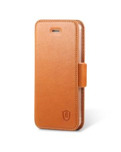 SHIELDON iPhone SE Genuine Leather Wallet Case