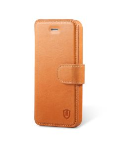 SHIELDON iPhone 5S Leather Folio Cover - Genuine Wallet Phone Case