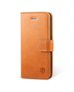SHIELDON iPhone SE Genuine Leather Book Case