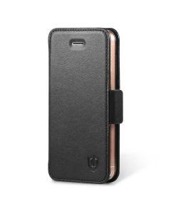 SHIELDON iPhone SE Genuine Leather Flip Case