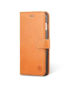 SHIELDON iPhone 6 Plus Wallet Cover and Case - Genuine Leather Flip Case