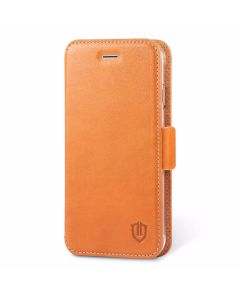 SHIELDON iPhone 7s Leather Case - iPhone7s Genuine Leather Wallet Case, Dual Magnet Tab, Kickstand, Flip Cover, Book Style