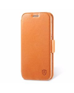 SHIELDON Galaxy S6 Edge Genuine Leather Folio Case