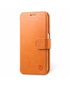 SHIELDON Galaxy S6 Edge Genuine Leather Flip Case