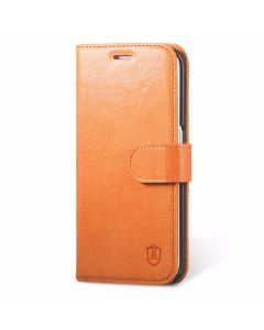 SHIELDON Galaxy S6 Edge Case - Genuine Leather Case