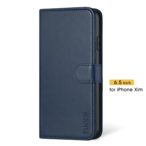 TUCCH iPhone 11 Pro Max Wallet Case with Magnetic, iPhone 11 Pro Max Leather Case Wireless Charging Compatible - Blue