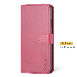 TUCCH iPhone 11 Pro Wallet Case Protective, iPhone 11 Pro Flip Cover Slim - Hot Pink