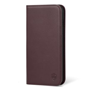 SHIELDON iPhone XS Max Wallet Case, iPhone 10S Max Flip Cover, Auto Sleep/Wake up, Genuine Leather, Kickstand, Magnetic Closure - Wine Red