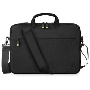 SHIELDON 13-13.5 Inch Laptop Sleeve, Laptop Pouch Briefcase Bag with Detachable Shoulder Strap, Wear Resistant Carrying Computer Bag Cover Compatible with MacBook Air/Macbook Pro/HP/Dell Laptop