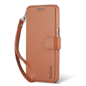 TUCCH Galaxy S7 Case, Detachable Wrist Strap, Magnetic Closure