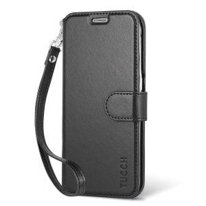 TUCCH Galaxy S6 Edge Flip Folio Wallet Case, Wrist Strap