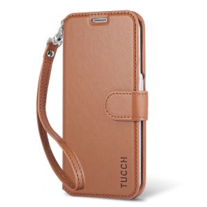 TUCCH Galaxy S6 Edge PU Leather Wallet Case With ID&Credit Card Pockets