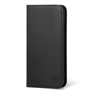 SHIELDON iPhone 6 Plus Folio Case, iPhone 6s Plus Wallet Case - Genuine Leather Cover with TPU