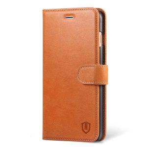 SHIELDON iPhone 8 Plus Genuine Leather Wallet Case, Magnetic Clasp, Kickstand, Flip, Folio Style