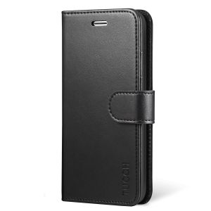 TUCCH iPhone X Wallet Case - iPhone 10 Premium PU Leather Flip Folio Case with Card Slot, Cash Clip, Stand Holder and Magnetic Closure, TPU Shockproof Interior Protective Case