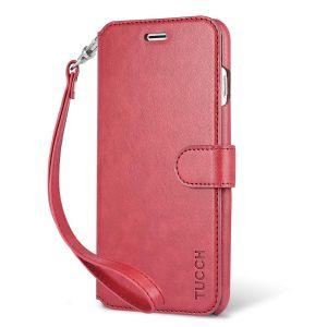 TUCCH iPhone 7 Plus Case, Premium PU Leather Flip Folio Case with Card Slot, Magnetic Closure