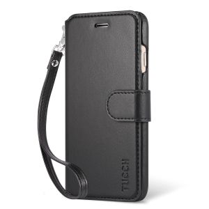 TUCCH iPhone 7 Wallet Case, Wrist Strap, PU Leather Case