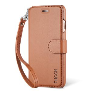 TUCCH iphone 6 Case, iphone 6S Case,  Flip Folio PU Leather Case