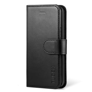 TUCCH iPhone SE/5S/5 Wallet Case with TPU Case, Retro Leather Wallet Case, Flip Book Case