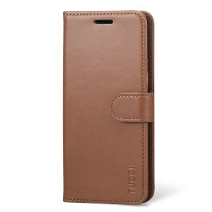 TUCCH Samsung Galaxy S8 Plus leather Case, Magnetic Strap