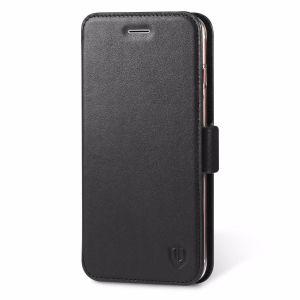 SHIELDON iPhone 7 Plus Book Case - Genuine Leather Case