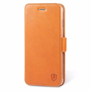 SHIELDON iPhone 7 Plus Flip Case - Genuine Leather Case