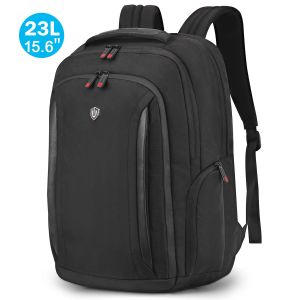 SHIELDON 15.6 Inch Laptop Travel Backpack 23L Business Work Backpack Durable Water Resistant Carry On College School Bag with Anti-theft Pocket for Boys Men Women