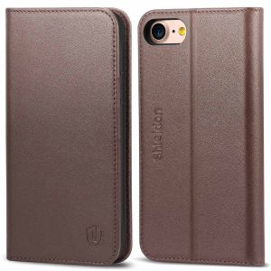 SHIELDON iPhone 8 Flip Cover, iPhone 7 Flip Cover, Genuine Leather Case, Kickstand