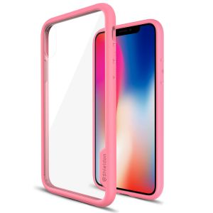 SHIELDON iPhone XS / iPhone X Case - Pink color TPU bumper Case for iPhone X / iPhone 10 - Glacier Series