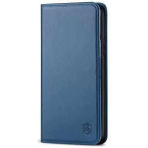 SHIELDON iPhone 11 Wallet Case, Genuine Leather, RFID Blocking, Magnetic Closure - Royal Blue