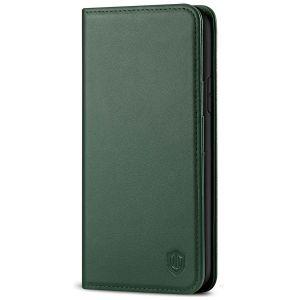 SHIELDON iPhone 11 6.1-inch Flip Leather Wallet Case - Midnight Green