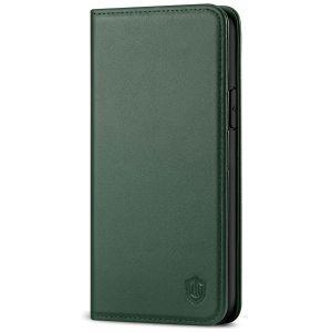 SHIELDON iPhone 11 Pro Wallet Case, Genuine Leather, Auto Sleep/Wake, RFID Blocking, Magnetic Closure - Midnight Green