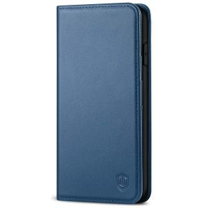 SHIELDON iPhone 11 Pro Max Wallet Case, Genuine Leather, Kick-stand, Magnetic Closure with Auto Sleep/Wake Function - Royal Blue