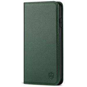 SHIELDON iPhone 11 Pro Max Wallet Case, Genuine Leather, Kick-stand, Magnetic Closure with Auto Sleep/Wake Function - Midnight Green