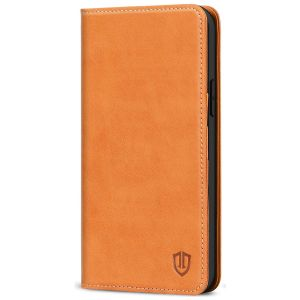 SHIELDON iPhone 12 Pro Max Wallet Case - iPhone 12 Pro Max 6.7-inch Folio Leather Case Cover - Brown