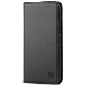SHIELDON iPhone 13 Pro Max Wallet Case, iPhone 13 Pro Max Genuine Leather Cover - Black