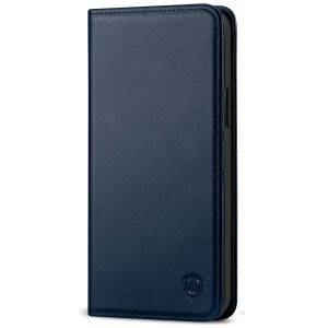 SHIELDON iPhone 13 Pro Max Wallet Case, iPhone 13 Pro Max Genuine Leather Cover - Navy Blue