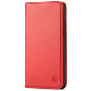 SHIELDON iPhone 13 Pro Max Wallet Case, iPhone 13 Pro Max Genuine Leather Cover - Red