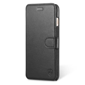 SHIELDON iPhone 6 Plus Genuine Flip Wallet Case with Kickstand