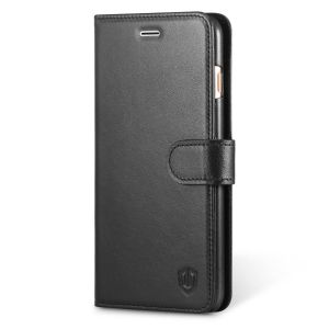 SHIELDON iPhone 6 Plus Leather Case -Genuine Wallet Flip Case