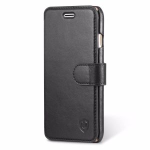 SHIELDON iPhone 8 Genuine Leather Wallet Case, Flip Cover, Kickstand Function