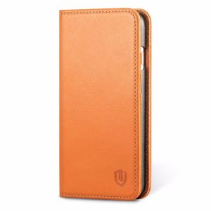 SHIELDON iPhone 7 Leather Wallet Phone Cover with Kickstand