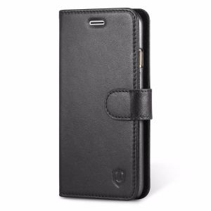 SHIELDON iPhone 7 Genuine Leather Folio Book Case with Stand