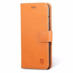 SHIELDON iPhone 7 Premium Genuine Leather Phone Cover Wallet Case