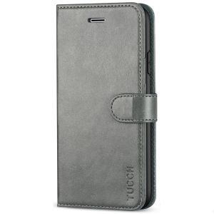 TUCCH iPhone 8 Plus Wallet Case, iPhone 7 Plus Case, Premium PU Leather Flip Folio Case - Grey