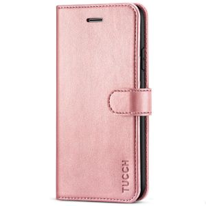 TUCCH iPhone 8 Plus Wallet Case, iPhone 7 Plus Case, Premium PU Leather Flip Folio Case - Rose Gold