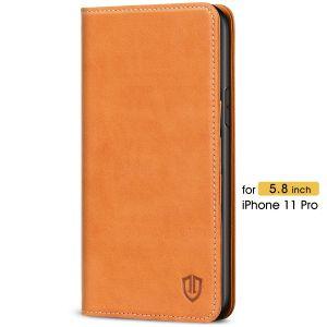 SHIELDON iPhone 11 Pro Wallet Case - iPhone 11 Pro Folio Case with Auto Sleep/Wake Function - Brown