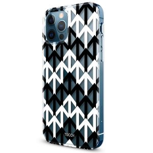 TUCCH iPhone 12 Pattern Case, iPhone 12 Pro Clear Floral Case with Hard Back Soft Frame, Pattern in the Middle Layer, Soft Flexible Shockproof TPU Case - Arrows